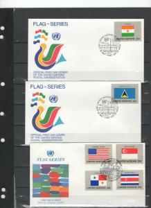 UN FDC's flag series