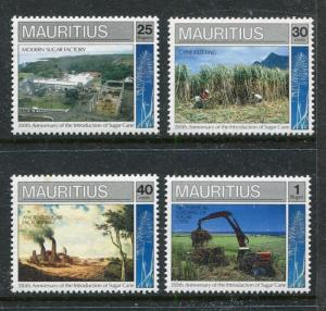 Mauritius 716-719, MNH, Sugar Can Industry 1990. x28530
