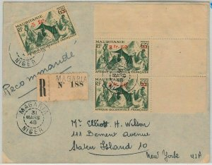 45131 - AOF MAURITANIA / NIGER -  POSTAL HISTORY: REGISTERED COVER from Tessaoua