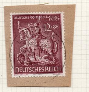 1944-45 GERMANY used in LUXEMBOURG Fine Used 12p. Postmark Piece 241675