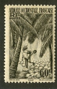 FRENCH WEST AFRICA 40 MH  BIN .50 COCONUTS