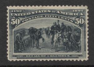 US#240 Slate Blue - Unused - O.G. - Cat:$500.00