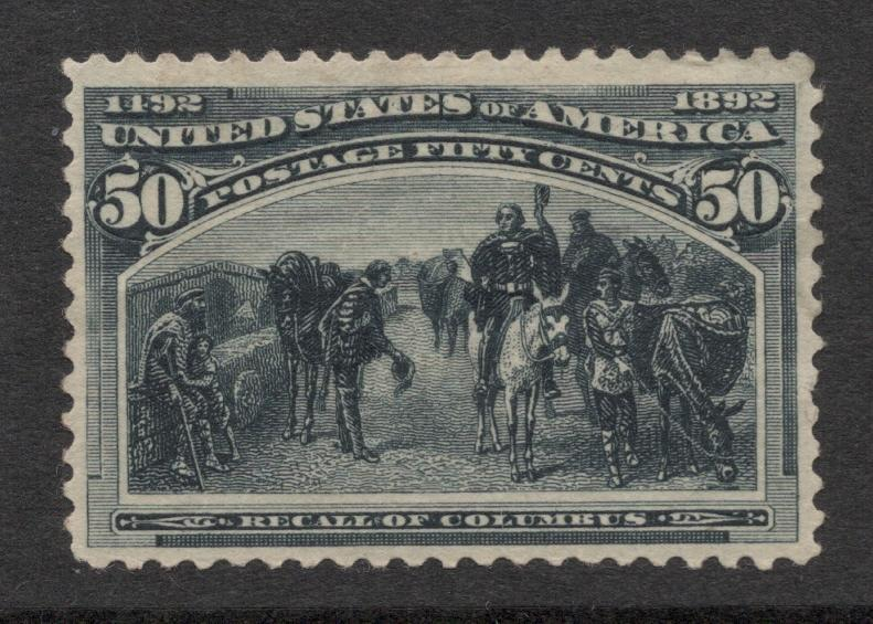 US#240 Slate Blue - Unused - O.G. - Cat:$500.00