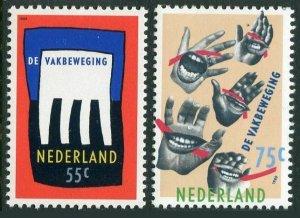 Netherlands 741-742,MNH.Michel 1358-1359. Dutch Trade Unions, 1988.