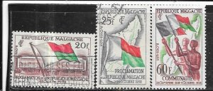 Malagasy Republic #303-305    (U & MLH) CV $2.10