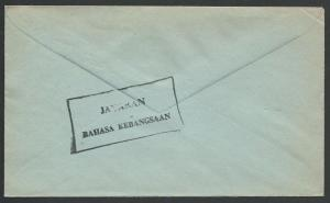 MALAYSIA 1966 cover ex JASIN - National Language handstruck slogan.........51545
