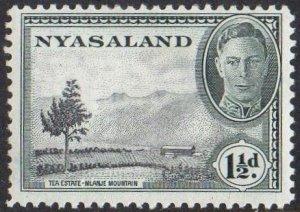 Nyasaland 1945 1½d Tea estate MH