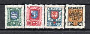 Estonia - Sc# B28 - B31 MH/MLH    -    Lot 0920037