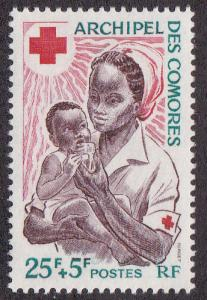 Comoros Isl. # B2, Red Cross, Mint NH,