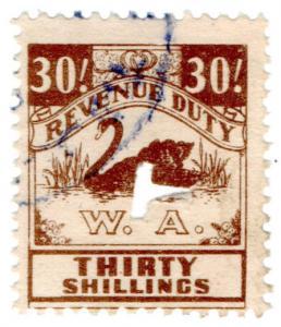 (I.B) Australia - Western Australia Revenue : Revenue Duty 30/-