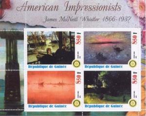 Impressionist Whistler Art -  Sheet of 4   M0510
