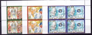 2003  - VATICAN - Scott #1253-1255 - First Day Cancels - Block Used