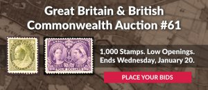 The 61st Great Britain & Commonwealth Auction