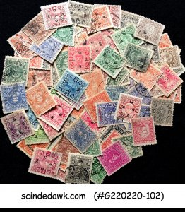 COLLECTION OF COCHIN PRINCELY STATE - 100V DIFFERENT USED
