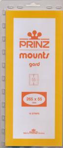 Prinz Scott Stamp Mount 55/265 BLACK Background Pack of 10