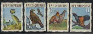 Albania #672-675 MNH CV$20 Grebe/Eagle/Partride/Capercaillie [102927]