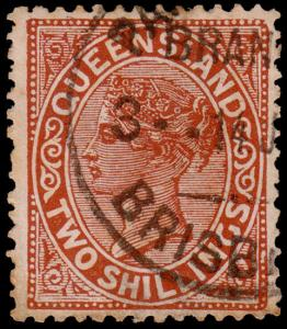 Queensland Scott 96 (1890) Used F-VF, CV $57.50 M