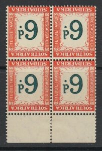 South Africa, SG D29a, MNH block (hinged selvage)