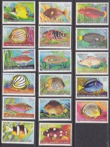 Cocos Islands Sc #34-50 MNH