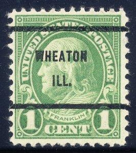 Wheaton IL, 632-61 Bureau Precancel, 1¢ Franklin