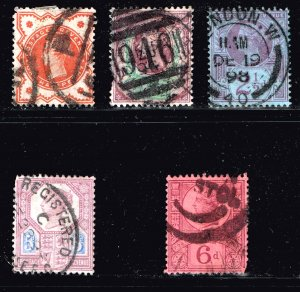 UK STAMP GREAT BRITAIN  Queen VICTORIA USED STAMPS LOT