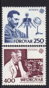 Faroe Islands 1983 MNH Europa Europe  complete