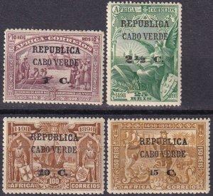 Cape Verde #122-3, 126-7 Unused CV $7.50 (Z2524)