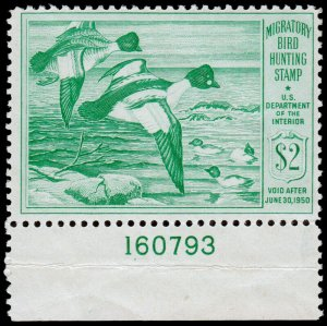 United States Hunting Permit Stamp Scott RW16 (1949) Mint NH VF, CV $70.00 C
