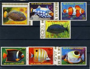 Equatorial Guinea 1979 Fish (7v) Perforated mnh.vf