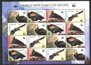 Lesotho. 2004. Small sheet 1895-98. Birds, WWF, fauna. MNH.