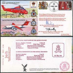 JS(CC)2d The Queens Flight Last Royal Tast Signed P.J Harding T.C Elworthy (C)