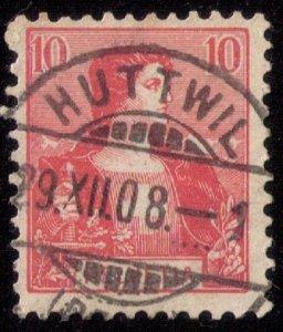 Switzerland Scott 129 Used Huttwil Cancellation Very Fine