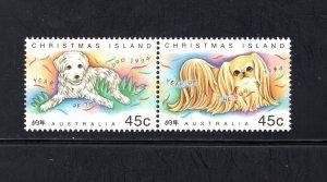 Christmas Island 359a,  VF, MNH, Year of the Dog, CV $3.00 ...... 1370077/8/9