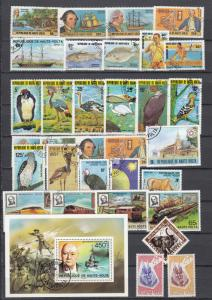Upper Volta - 62 stamp lot -  (3020)
