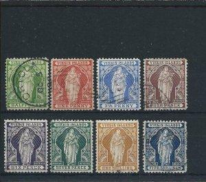 BRITISH VIRGIN IS 1899 SET OF EIGHT FU SG 43/50 CAT £140
