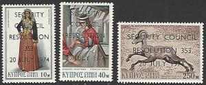 Cyprus #424-427 MNH Set of 3