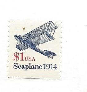 United States, 2468, $1 Seaplane VF Single, MNH