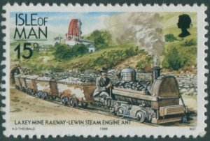 Isle Of Man 1988 SG372 15p Lewin locomotive MNH