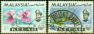 Kedah 1970 Wmk Sideways Set of 2 SG122-123 Very Fine Use