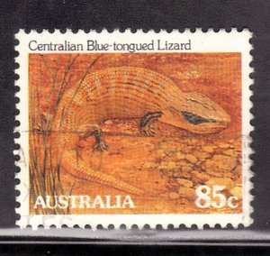 AUSTRALIA  SC #798   85c  1981-83  LIZARD   SEE SCAN