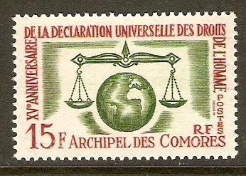 Comoro Islands #56 NH Human Rights