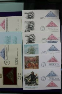 Pacific 97 NYC NY Transportation Philatelic expo 1997 Stamps Sc# 3130-3131 Set 8