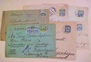 HUNGARY   B/S DENMARK 6 DIFF. CENSORED