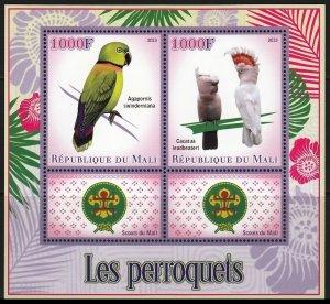 MALI 2013 BIRDS SCOUTS OISEAUX VOGEL UCCELLO AVES [#13130]