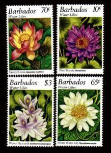 Barbados 905-908 Mint NH MNH Lillies Flowers!