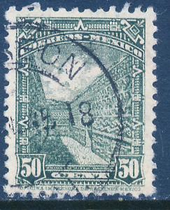 MEXICO 799, 50c 1934 Definitive. Ruins of Mitla. Used (788)