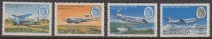 Rhodesia 241-4 Aircraft mnh