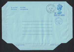 Isle of Man Aerogramme Non-illustrated 1980 Uprated 2p Cancelled 1980