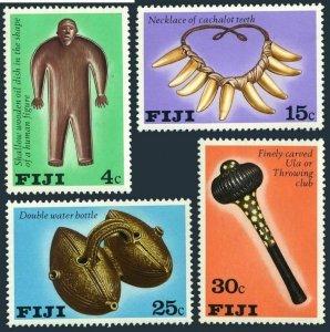 Fiji 389-392,MNH.Michel 379-382. Artifacts 1978.Wooden oil dish,Necklace,Bottles