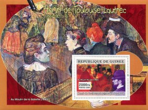 Guinea 2007 LAUTREC Paintings s/s Perforated Mint (NH)